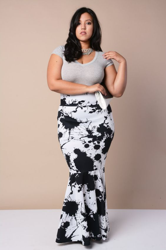 Long Skirts For Plus Size - Skirts