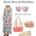 how to wear plusize floral dress and flat shoes 3 120x120 - How to style a maxi plus size floral dress with flat shoes