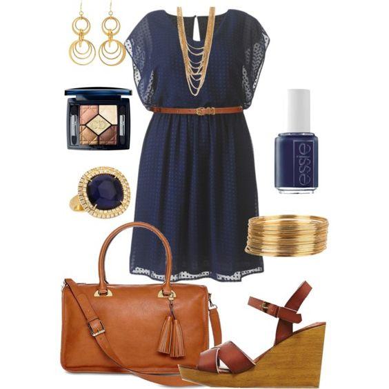 5 plus size navy blue dresses for spring 3 - 5 beautiful navy blue dresses for curvy women