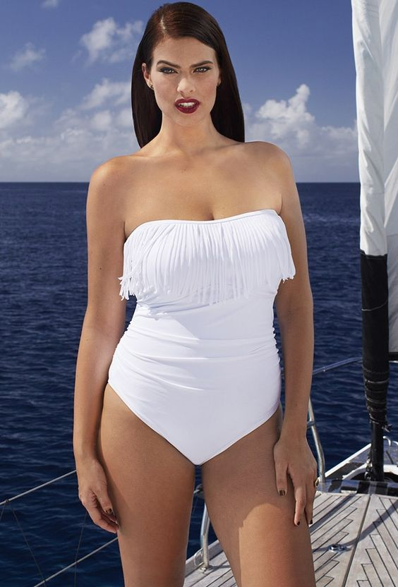 Oppositely, if you have a wider shoulder, trendy plus size swimsuits that call the attention to your hips to balance your figure. Check out our plus size one piece swimsuits with ruffles. After all, don't forget to look up our convenience size chart to make up the final decision. Our bathing suits are multifunctional.