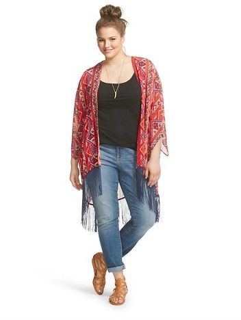 5 ways to combine a plus size fringed kimono 1 - 5 ways to combine a plus size fringed kimono
