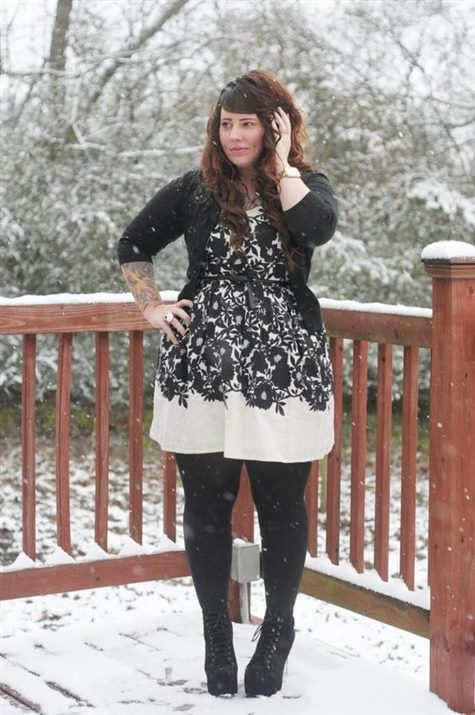 7 dress with leggings plus size outfits - curvyoutfits.com