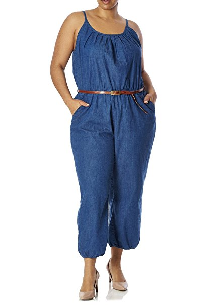 5 fun ways to wear a plus size denim jumpsuit in spring - 5 fun ways to wear a plus size denim jumpsuit in spring