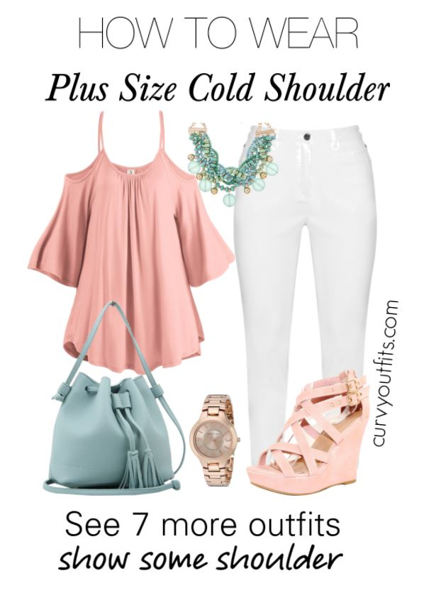 plus size cold shoulder outfits2 - 7 stylish ideas on how to wear plus size cold shoulder tops