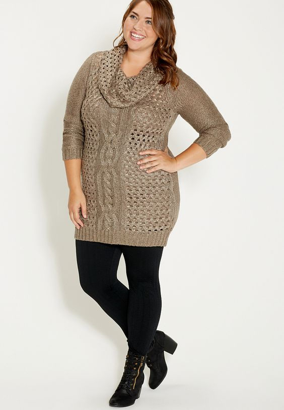 19 stylish ways to wear a plus size leggings outfit - curvyoutfits.com