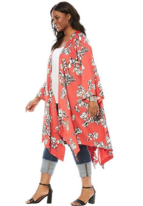 19 ways to wear a plus size kimono 6 - 19 ways to wear a plus size kimono