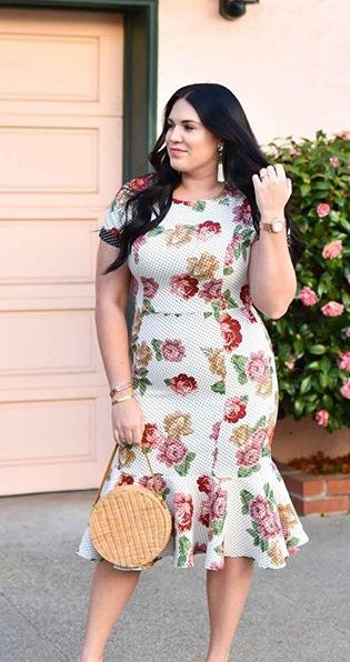 11 lovely plus size dress outfits for spring 2 e1524422843653 - 11 lovely plus size dress outfits for spring