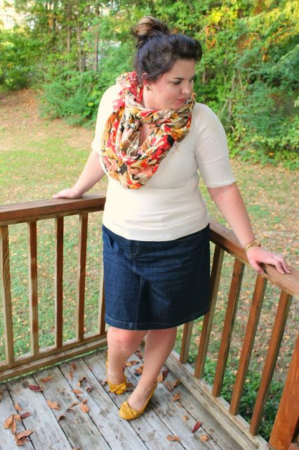 plus-size-jean-skirts