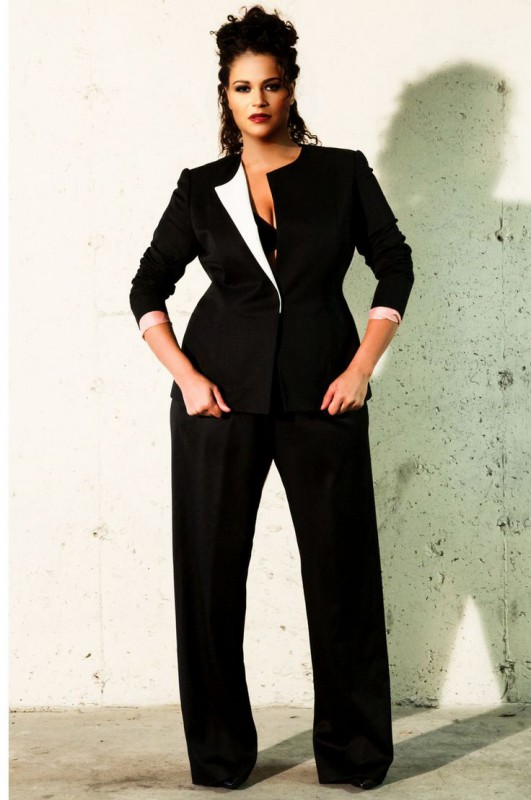 a822cedd352 Plus Size Mother Of The Bride Pant Suits - curvyoutfits.com