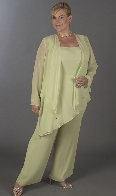 Plus Size Mother Bride Pant Suits1