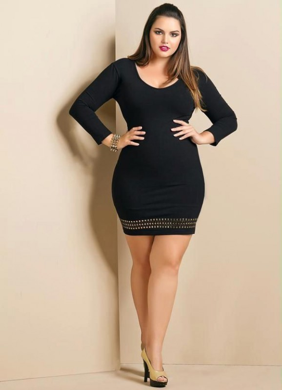 Plus Size Little Black Dress Outfit - Dress Foto and Picture