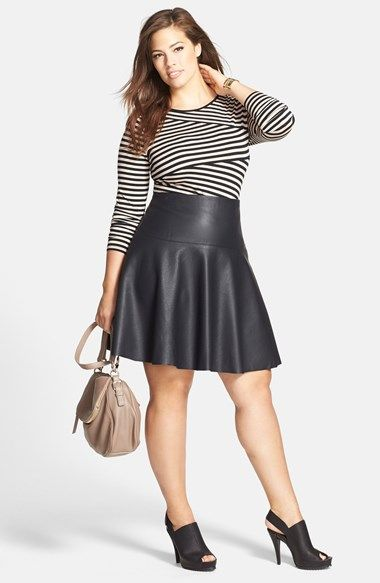 plus size leather skirt 5 best outfits - plus-size-leather-skirt-5-best-outfits
