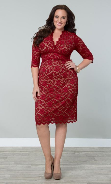 plus size red dress 5 best outfits - plus-size-red-dress-5-best-outfits