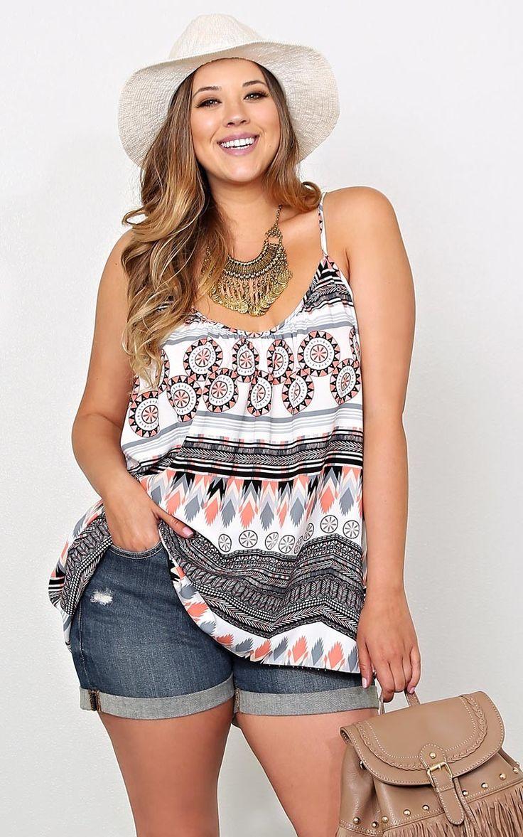 Boho Plus Size Outfits - curvyoutfits.com