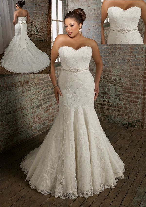 Plus size wedding dresses mermaid style