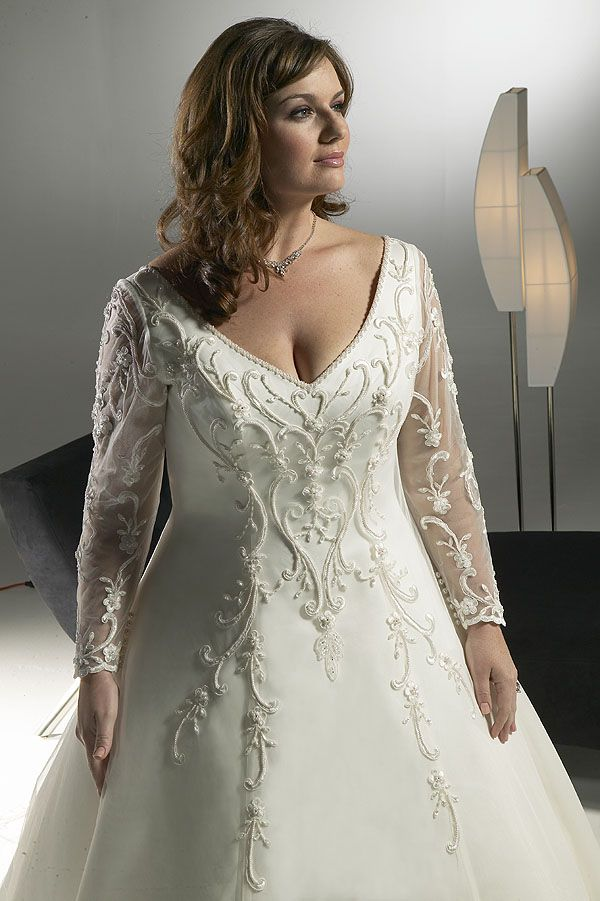 Plus size wedding gowns for mature brides , curvyoutfits.com