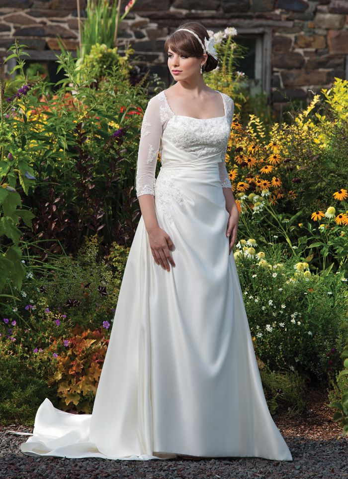 plus size wedding gowns with 34 sleeves3 - plus-size-wedding-gowns-with-34-sleeves3