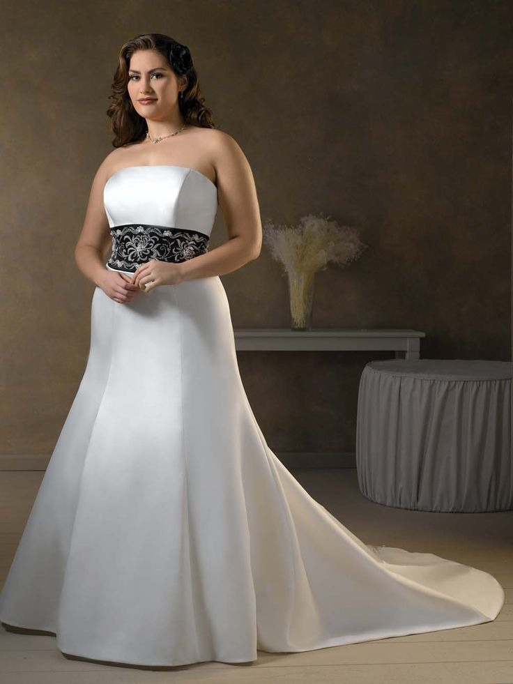 plus size wedding gowns with color - plus-size-wedding-gowns-with-color