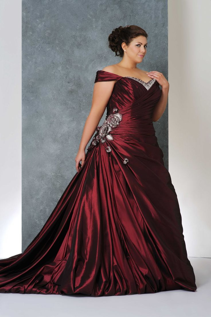 plus size wedding gowns with color4 - plus-size-wedding-gowns-with-color4