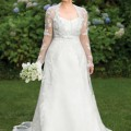 plus size wedding gowns with jackets1 120x120 - Plus size wedding gowns with lace sleeves