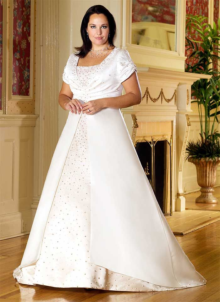 Plus size wedding gowns with jackets - Page 3 of 5 - curvyoutfits.com