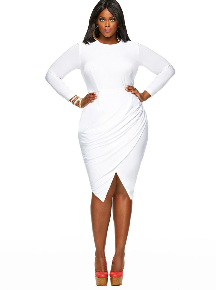 Plus size white dress 5 best - curvyoutfits.com