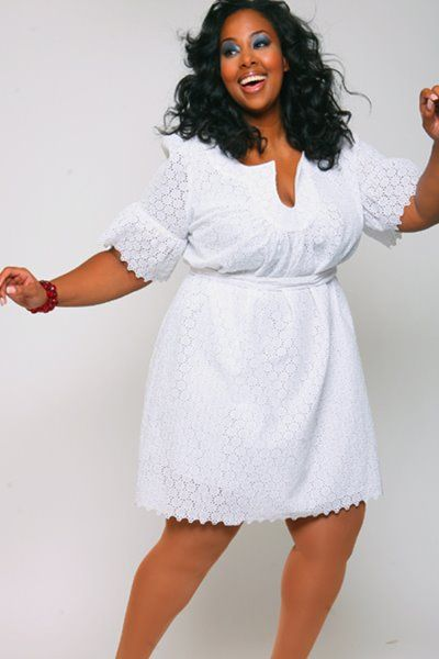 Plus size white dress 5 best - Page 4 of 5 - curvyoutfits.com