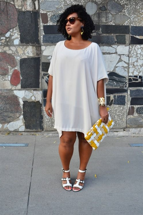 Plus size white dress shirt - Page 4 of 5 - curvyoutfits.com