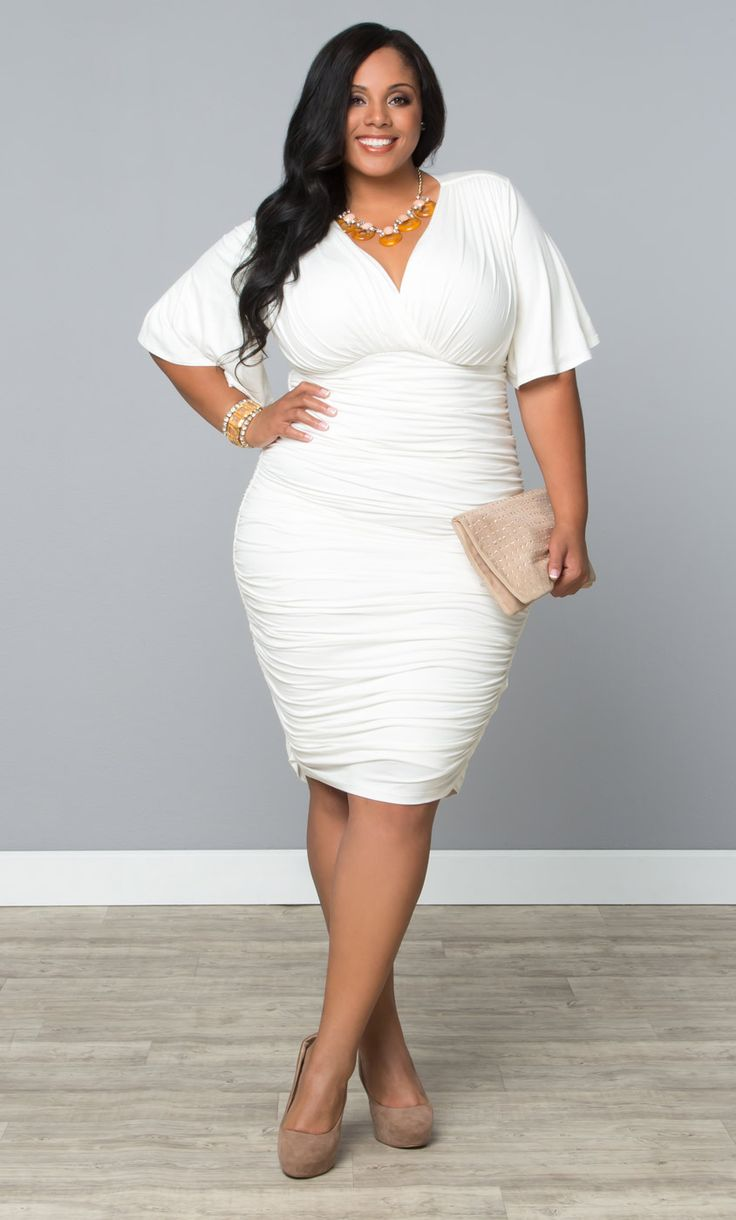 Plus size white dress shirt - Page 5 of 5 - curvyoutfits.com