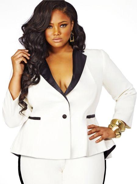 Plus size white dress suit - Page 2 of 5 - curvyoutfits.com