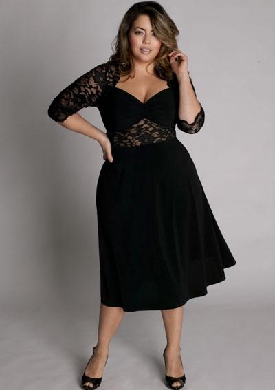 Black Plus Size Casual Dresses
