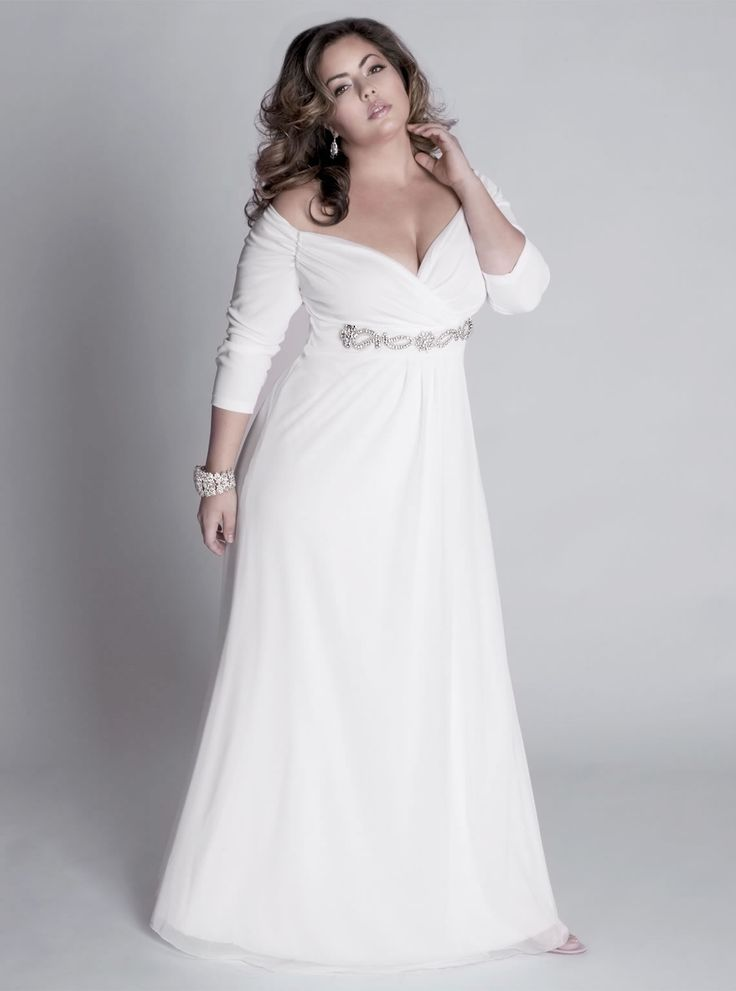1ffbceca96b Informal Plus Size Wedding Dresses – Great Choices for Full Figured ...