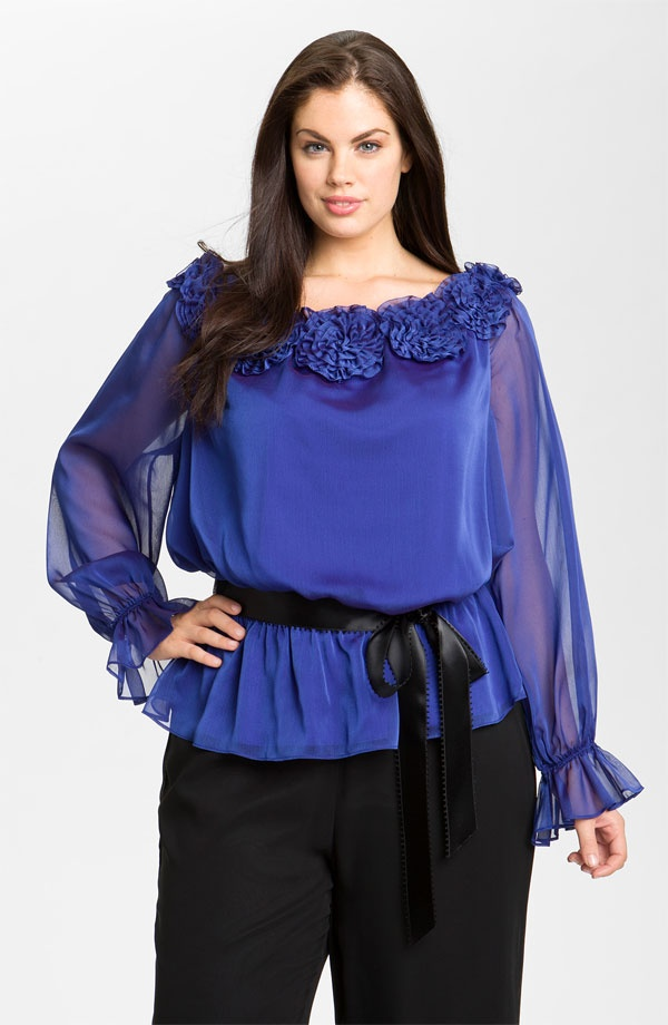 ecb26b3f148b6 Plus Size Satin Blouses top outfits - Page 4 of 6 - curvyoutfits.com