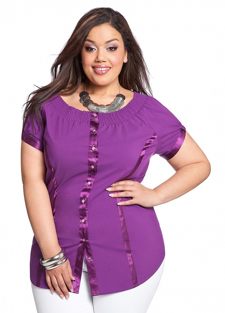 631c36dc1f076 Plus Size Satin Blouses top outfits - Page 3 of 6 - curvyoutfits.com