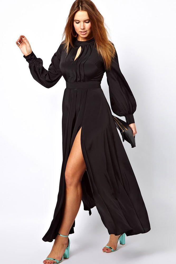 af92eb024077 5-ways-to-wear-a-plus-size-black-maxi-dress1 - curvyoutfits.com