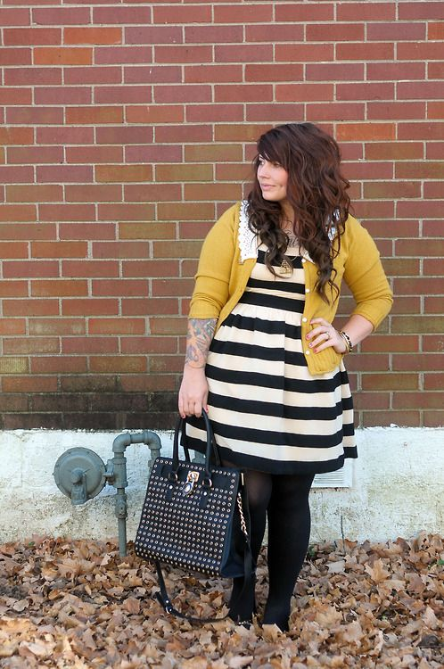 5-ways-to-wear-a-plus-size-striped-dress-that-you-will-love
