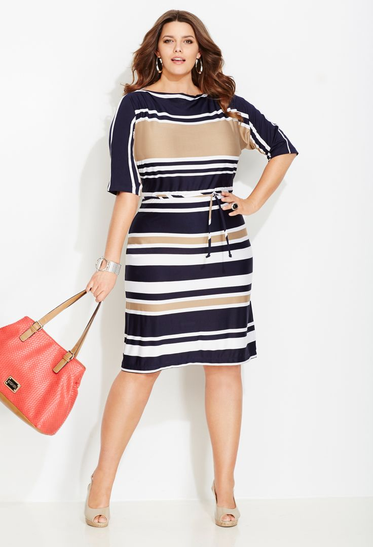 5 ways to wear a plus size striped dress that you will love3 - 5 ways to wear a plus size striped dress that you will love