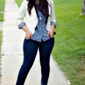 how to get the total denim look without looking frumpy1 120x120 - How to get the total denim look without looking frumpy