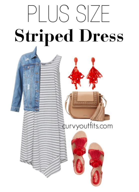 plus size striped dress outfit 1 - plus size striped dress outfit 1