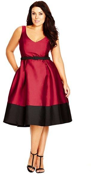 5-plus-size-dresses-for-christmas-dinner-1 - 5 Plus Size Dresses For Christmas Dinner - Curvyoutfits.com