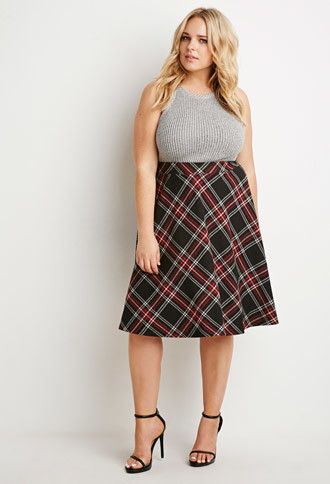 5 ways to wear a plus size a line skirt that you will love 2 - 5-ways-to-wear-a-plus-size-a-line-skirt-that-you-will-love-2