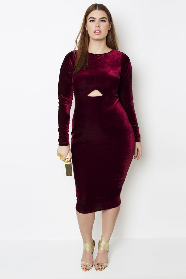 5 ways to wear a plus size velvet dress for the New Year\'s Eve ...