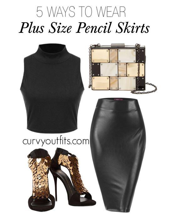 5 ways to wear plus size pencil skirts 1 - 5 ways to wear plus size pencil skirts 1