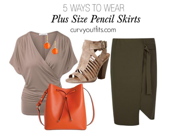 5 ways to wear plus size pencil skirts 6 - 5 ways to wear plus size pencil skirts 6