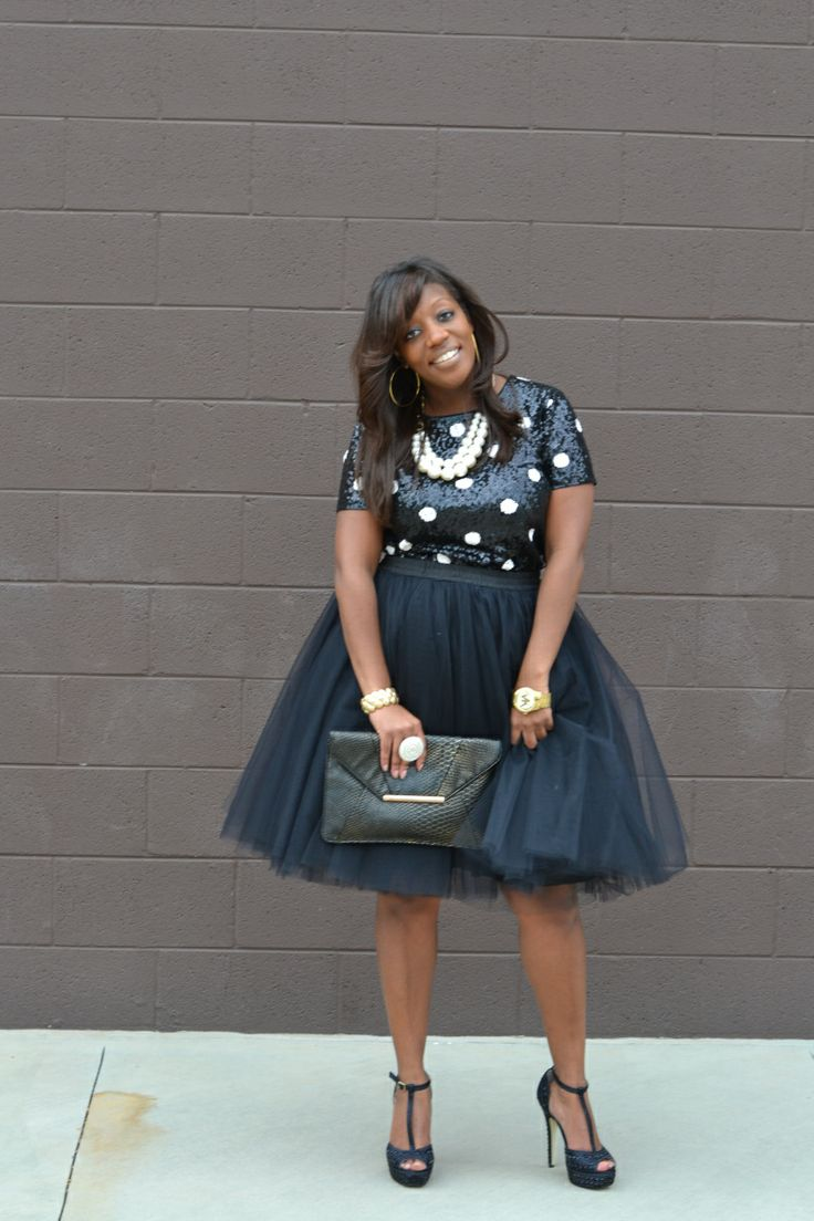 How To Wear A Christmas Tulle Skirt Without Looking Frumpy