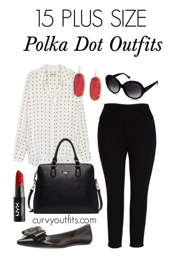 15 plus size polka dot outfits - 15 ways to wear plus size polka dot outfits without looking frumpy