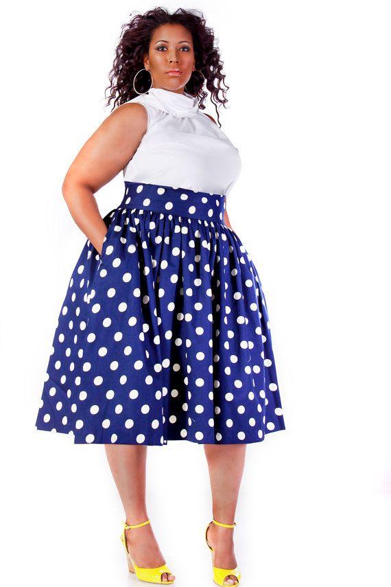 15 ways to wear plus size polka dot outfits without looking frumpy 2 - 15-ways-to-wear-plus-size-polka-dot-outfits-without-looking-frumpy-2