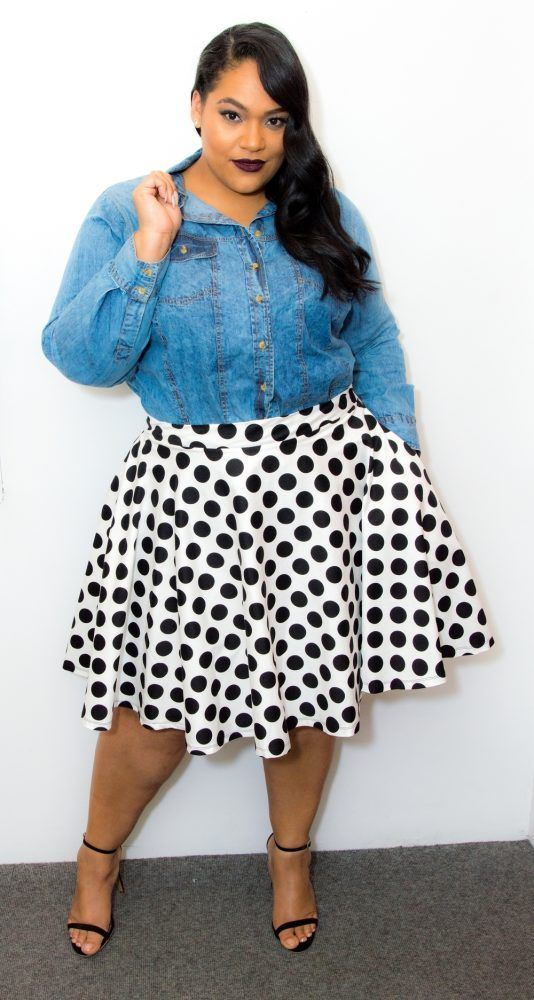 15 ways to wear plus size polka dot outfits without looking frumpy 4 - 15-ways-to-wear-plus-size-polka-dot-outfits-without-looking-frumpy-4