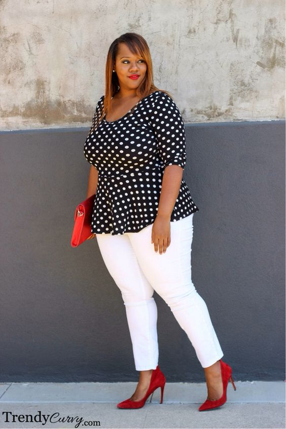 15 ways to wear plus size polka dot outfits without looking frumpy - 15-ways-to-wear-plus-size-polka-dot-outfits-without-looking-frumpy