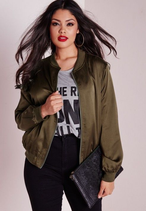 379b89d3abf 5 stylish ways to wear a plus size bomber jacket - Page 3 of 5 ...